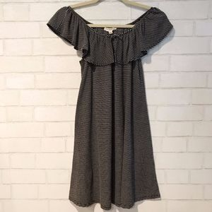 LA Hearts/Off Shoulder Dress Stripe M